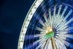 Ferris wheel at night in Asiatique, Bangkok, Thailand. royalty free stock photo