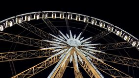 Ferris Wheel At Night Close-up video estoque