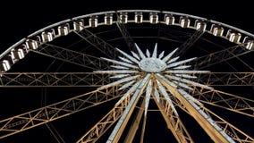 Ferris Wheel At Night Close-up video estoque