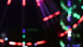 Ferris wheel night stock video footage