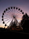 Ferris wheel at night twilight Fremantle Perth Western Australia. Fremantle ferris wheel  Perth Western Australia at dusk twilight Royalty Free Stock Photo