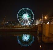Ferris wheel at night in Gdansk Royalty Free Stock Photos