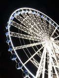 Ferris wheel at night  in Gdansk, Poland Royalty Free Stock Image