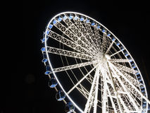Ferris wheel at night  in Gdansk, Poland Stock Photos