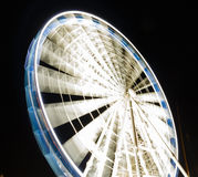 Ferris wheel at night  in Gdansk, Poland Royalty Free Stock Photography