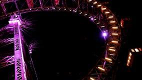 Ferris wheel at night stock video footage