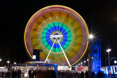 Ferris Wheel at night illumination Stock Image