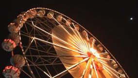 Ferris wheel at night stock video