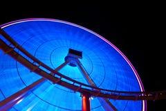 Ferris Wheel at Night. Ferris Wheel Lit Up at Night Royalty Free Stock Image