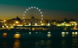 Ferris wheel in night royalty free stock photography