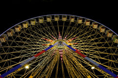 Ferris wheel at night in Nice, France. Ferris Wheel night shot during carnival in amusement park Royalty Free Stock Image
