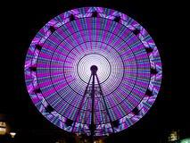 Ferris Wheel at night. In Odiba Tokyo Japan Stock Photos