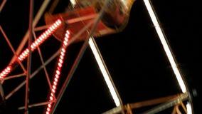 Ferris Wheel In Night Park com decorativo video estoque