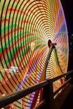 Ferris Wheel  Closeup at Night colorful Long Exposure Stock Photos