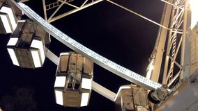 Ferris Wheel At Night Primer almacen de video
