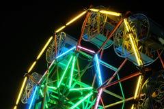 Ferris wheel night scenes. Colorful fluorescent light. Stock Photography