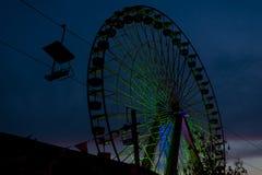 Ferris wheel by night Royalty Free Stock Photos