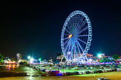 Ferris wheel at night in thailand.(Asiatique) Royalty Free Stock Image
