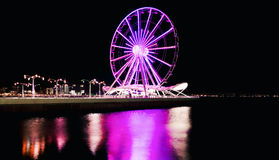 Ferris wheel at night time Stock Images