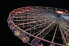 Ferris wheel at night in Vienna royalty free stock image