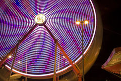 Ferris Wheel no passeio justo de Riverside County do festival da data o zíper fotografia de stock