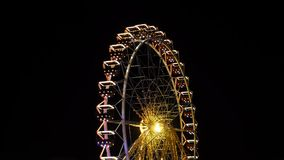 Ferris wheel in Odessa time lapse stock video
