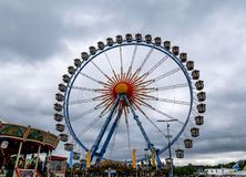 A ferris wheel at the Oktoberfest in Munich, Bavaria-September 26, 2018 stock photography