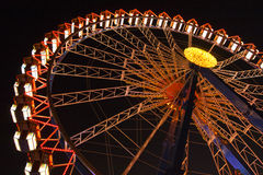 Ferris wheel at the Oktoberfest at night Stock Image