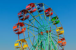 Ferris wheel old style. Royalty Free Stock Image