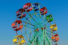 Ferris wheel old style. Royalty Free Stock Image