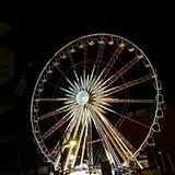 Ferris wheel old town gdańsk royalty free stock photography