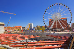 Ferris wheel in the old town of Gdansk Royalty Free Stock Image