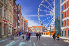 Ferris wheel in the old town of Gdansk Royalty Free Stock Images