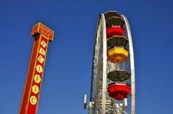 Ferris Wheel op Santa Monica Pier Stock Fotografie