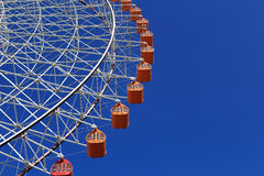 Ferris Wheel - Osaka City in Japan with blue sky Royalty Free Stock Images