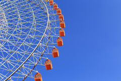 Ferris Wheel - Osaka City in Japan with blue sky Stock Photography