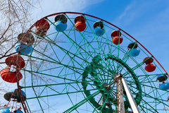 Ferris wheel over blue sky background Stock Image