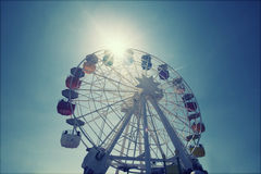 Ferris wheel over blue sky Royalty Free Stock Photography