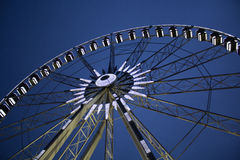 Ferris wheel over blue sky. Ferris Wheel on a blue sky in Hungary royalty free stock photography