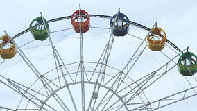 Ferris wheel over blue sky stock footage