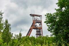 Ferris Wheel Over Coal Mine Forbach Lorraine France photo libre de droits
