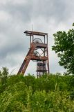 Ferris Wheel Over Coal Mine Forbach Lorraine France stock photography