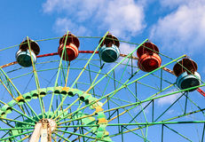 Ferris wheel over sky background Royalty Free Stock Photography