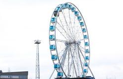Ferris Wheel på hamnen, Helsingfors, Finland, 21 12 2015 Royaltyfri Bild