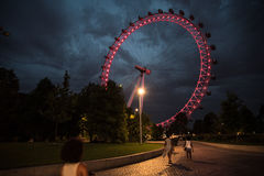 Ferris Wheel på London Royaltyfria Foton