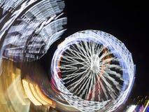 Ferris Wheel på natten Royaltyfri Foto