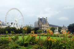 Ferris wheel,Paris,France. Picture taken in Tuileries garden,Paris,France Stock Photo