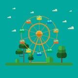 Ferris wheel. Ferris wheel in the park Stock Photo