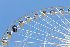 Ferris wheel in the park with clear blue sky and empty space for Stock Image