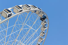 Ferris wheel in the park with clear blue sky and empty space for Royalty Free Stock Images